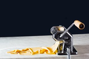 Make the dough with a pasta machine