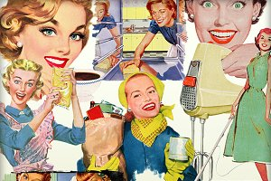 Retro Happy Housewives Elements - #2