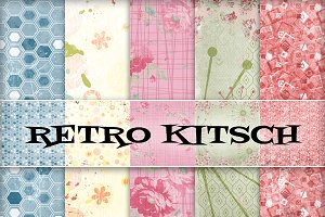Retro Kitsch Backgrounds - JPGs