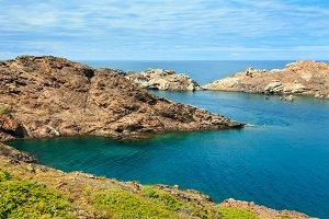 Costa Brava rocky coast, Spain.