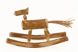 Handmade wooden horsy