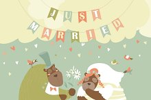 Two lovely bears. Just married