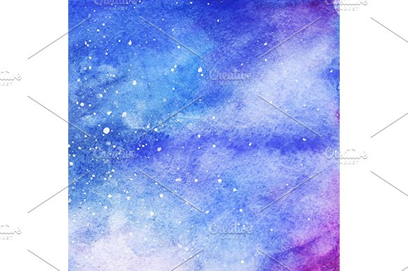 Watercolor Space Galaxy Background Graphic Patterns