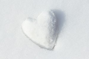 Snow heart. Winter. New Year. Love