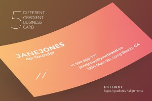 5 Different Gradient Business Card