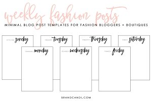Fashion Blog Post Templates