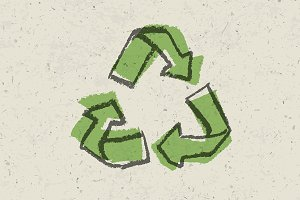 Reuse sign. Go green concept