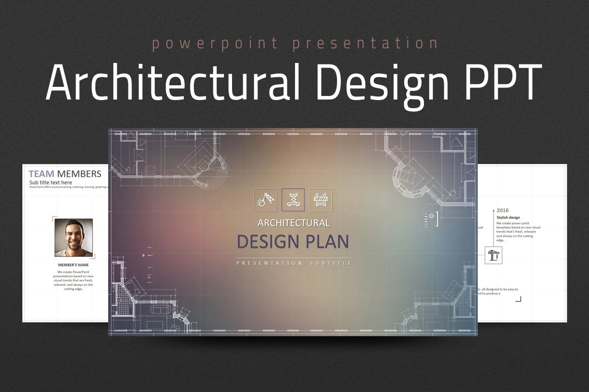architectural design ppt presentation templates creative market