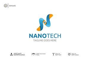 Nano Tech - Letter N Logo