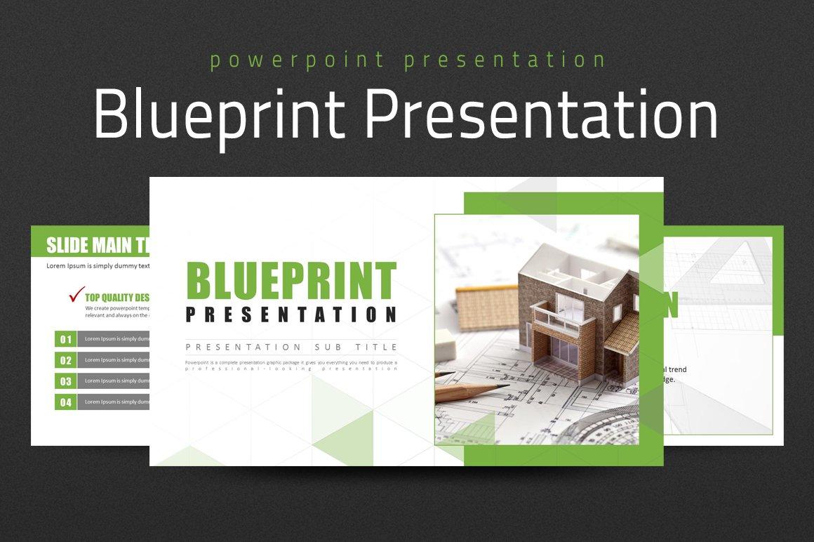 Blueprint presentation presentation templates creative market malvernweather Gallery
