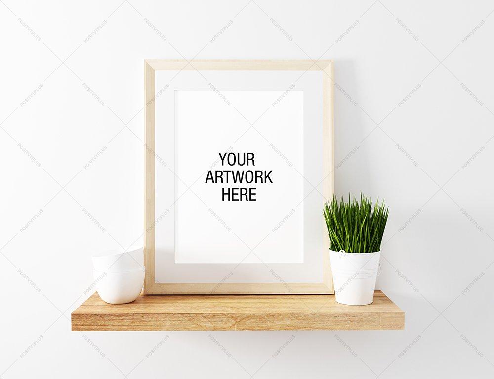 frame mockup floating shelve product mockups creative market