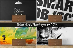 Wall Mockup - Sticker Mockup Vol 44