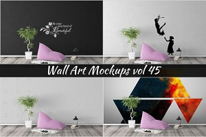 Wall Mockup - Sticker Mockup Vol 45