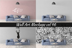 Wall Mockup - Sticker Mockup Vol 46