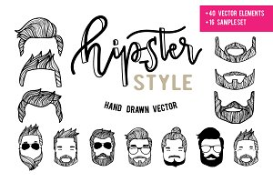 Drag&Drop hipster style VECTOR