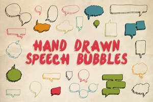 40 Hand Drawn Speech Bubbles