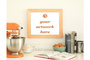 Orange Kitchen Theme Frame Mockup
