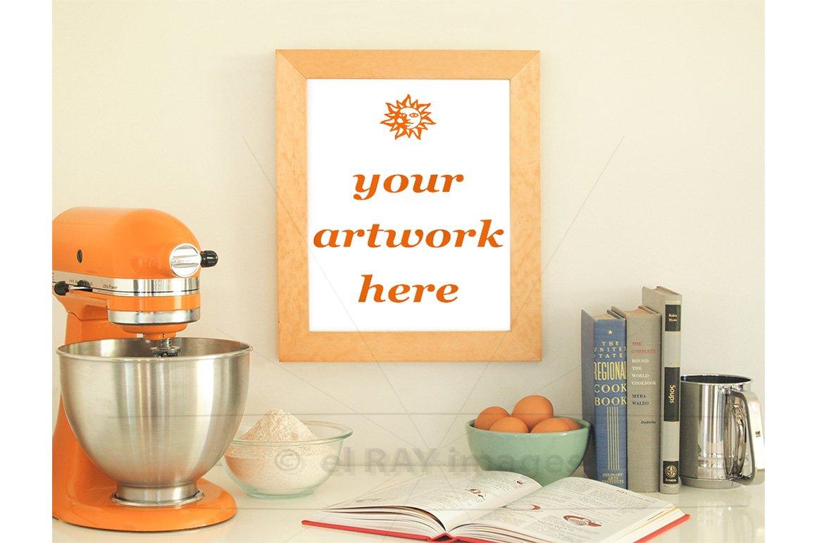 Orange Kitchen Theme Frame Mockup ~ Product Mockups ~ Creative Market