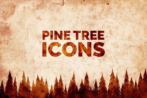 Mountain Pine Tree Icons