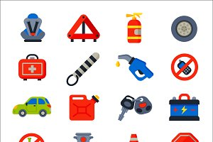 Auto transport vector icons