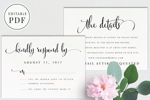 Wedding RSVP and Details Card
