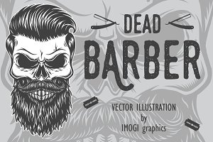 Dead barber vector illustration