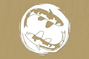 Koi carp template for stickers