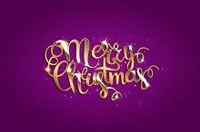 Merry Christmas. Purple version