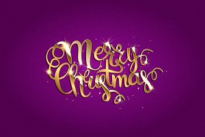 Merry Christmas. Purple version