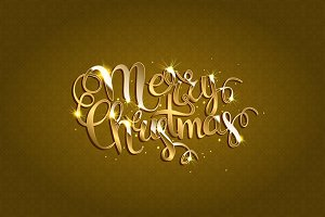 Merry Christmas. Gold version
