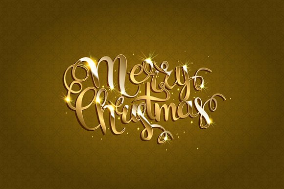 Merry Christmas. Gold version - Graphics
