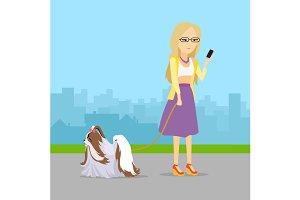 Type Girl with Dog