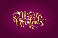 Merry Christmas. Crimson version