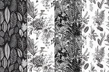 Exotic patterns. Set. B &W