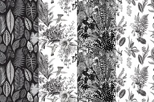 Exotic patterns. Set. B &W