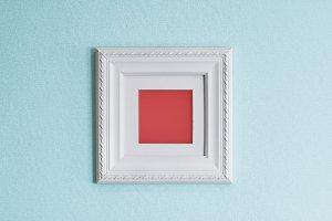 White Frame, Blue Wall