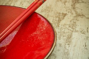 Oriental ceramic plate