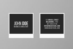 Square Photography Business Card 2