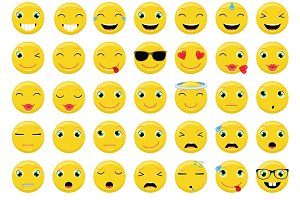 Emoticons / Emoji Vector Set