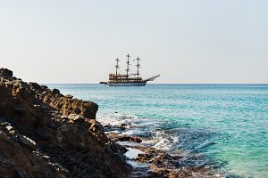 Clear water of Mediterranean sea