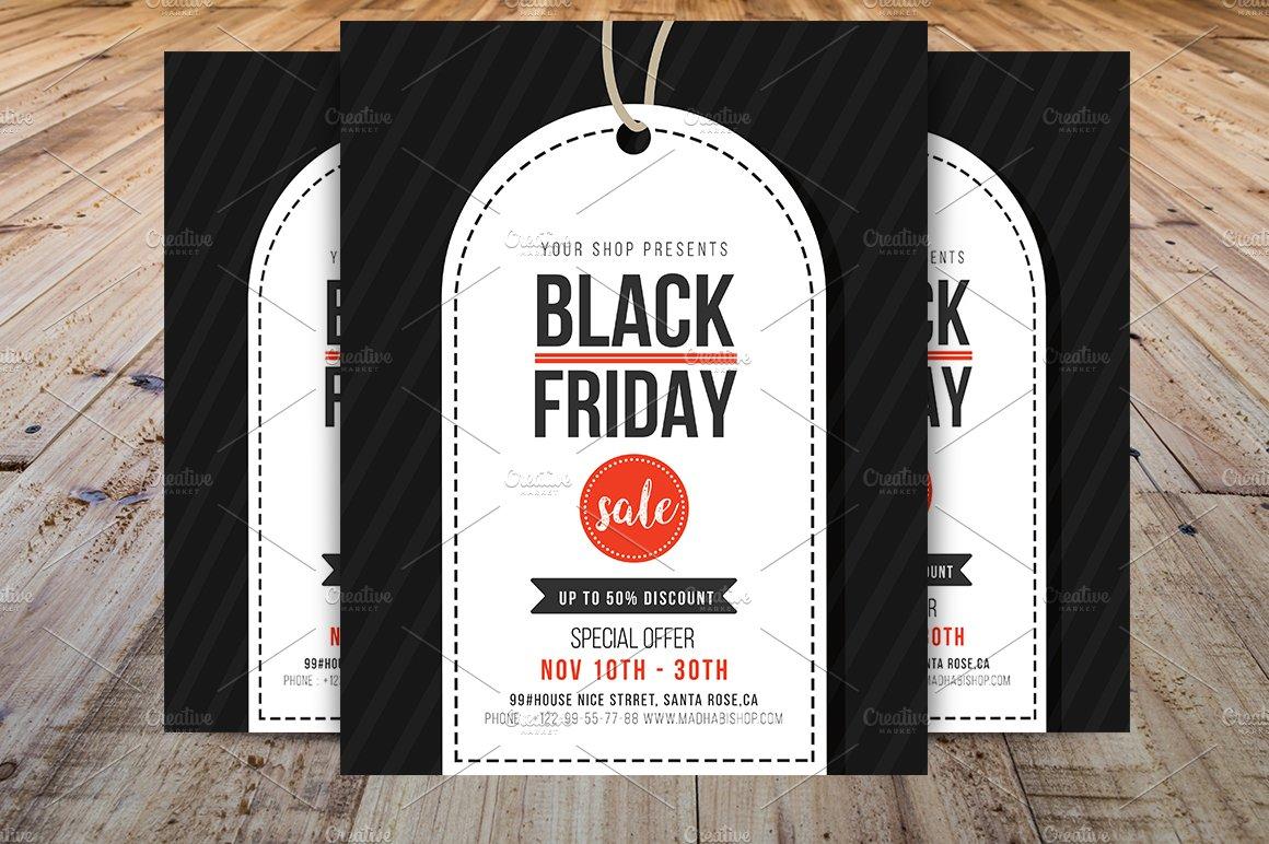 black friday flyer template v2 flyer templates creative market