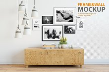 picture wall mockup