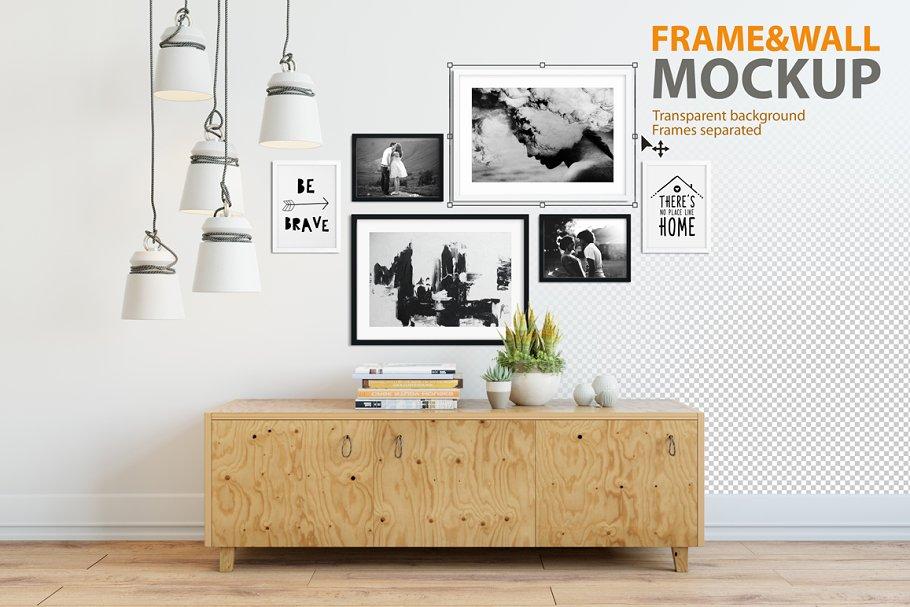 Interior Frame & Wall Mockup - 04 - Product Mockups | Creative ...