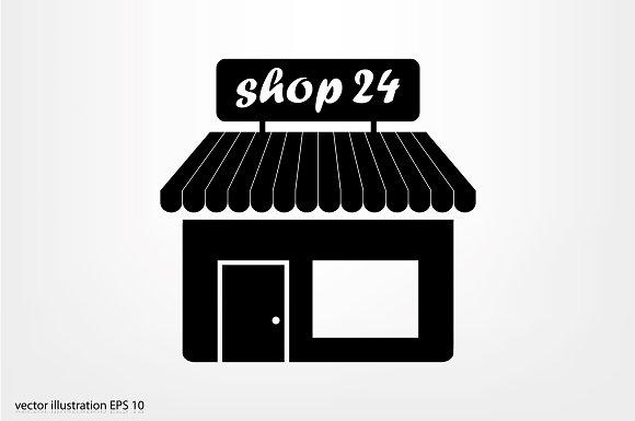 Shop Icon Icons Creative Market