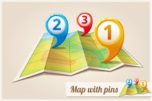 Pins on the map