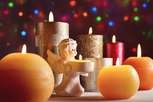 Candles, Christmas, New Year's Eve.