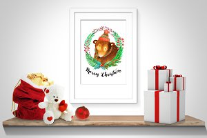 Christmas Bear Printables