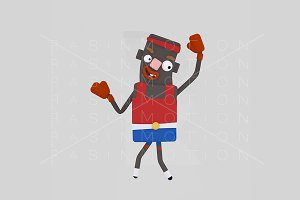 3d illustration. Boxing man.