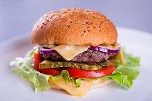 Fresh tasty homemade burger