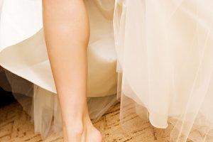 Red crush wedding garter